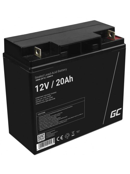 Green Cell AGM zselés akkumulátor / akku 12V 20Ah