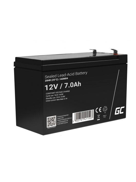 Green Cell AGM zselés akkumulátor / akku 12V 7Ah