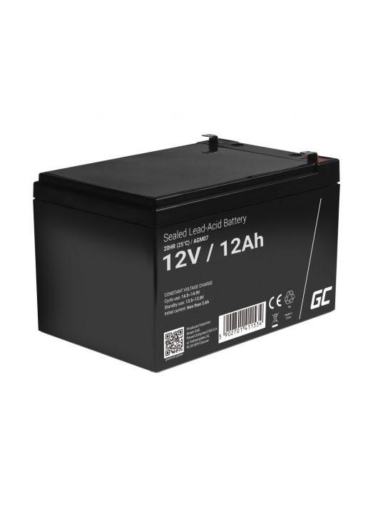 Green Cell AGM zselés akkumulátor / akku 12V 12Ah