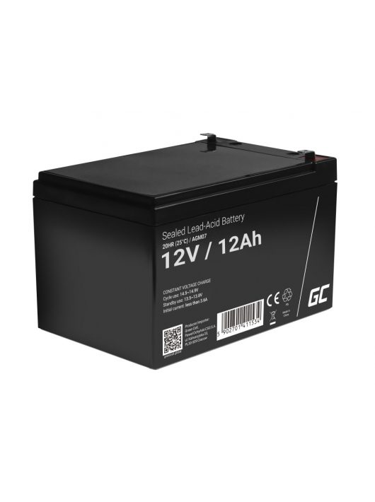 AGM zselés akkumulátor / akku 12V 12Ah AGM07