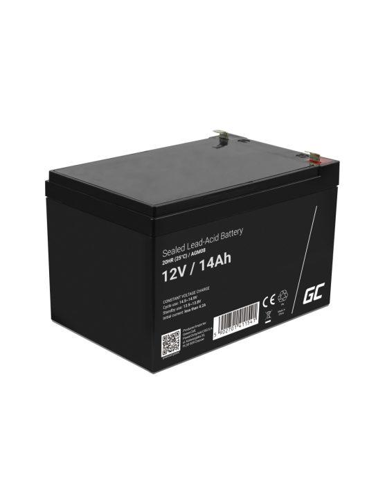 AGM zselés akkumulátor / akku 12V 14Ah AGM08