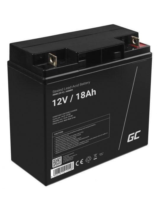 Green Cell AGM zselés akkumulátor / akku 12V 18Ah