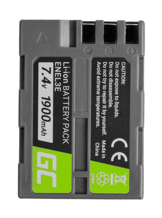 Green Cell Digitális kamera akkumulátor / akku Nikon D-SLR D50 D70 D80 D90 D100 D200 D300 D700 D900 7.4V