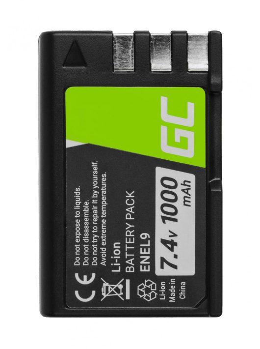 Green Cell Digitális kamera akkumulátor / akku Nikon D-SLR D40 D60 D3000 D5000 7.4V
