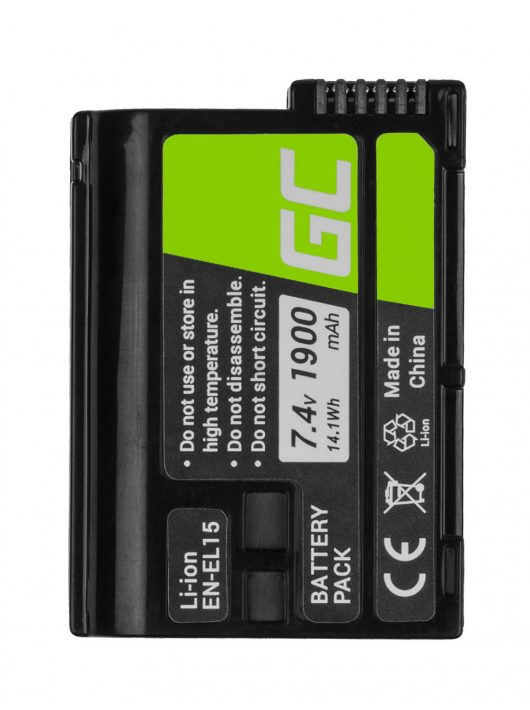 Green Cell Digitális kamera akkumulátor / akku Nikon D600 D800 D7000 D8000 7.0V