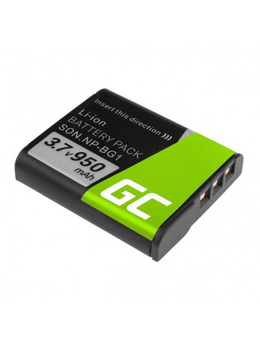 Green Cell Digitális kamera akkumulátor / akku Sony DSC H10 H20 H50 HX5 HX10 T50 W50 W70 3.7V