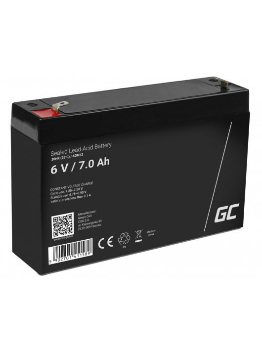 AGM Zselés akkumulátor / akku 6V 7Ah AGM12