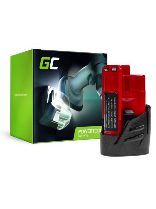 Green Cell kéziszerszám akkumulátor / akku Milwaukee C12 M12