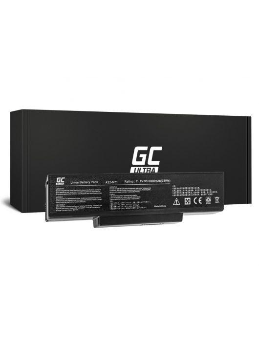 Ultra Laptop akkumulátor / akku Asus N71 K72 K72J K72F K73SV N71 N73 N73S N73SV X73S 6800mAh AS06ULTRA