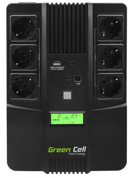 Green Cell UPS Szünetmentes tápegység AiO 800VA LCD kijelző