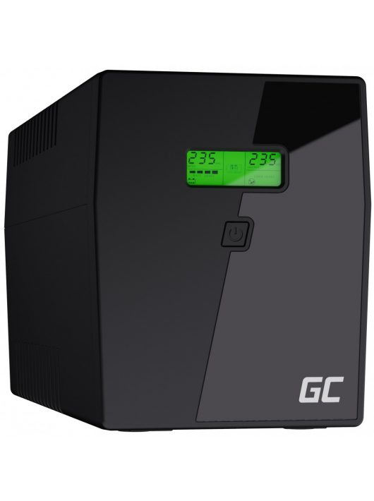 Green Cell UPS Szünetmentes tápegység Microsine 2000VA LCD kijelző