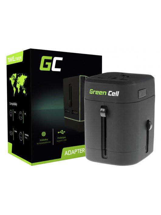 Green Cell Nemzetközi Túrázó (Utazó) Töltő USB Portokkal