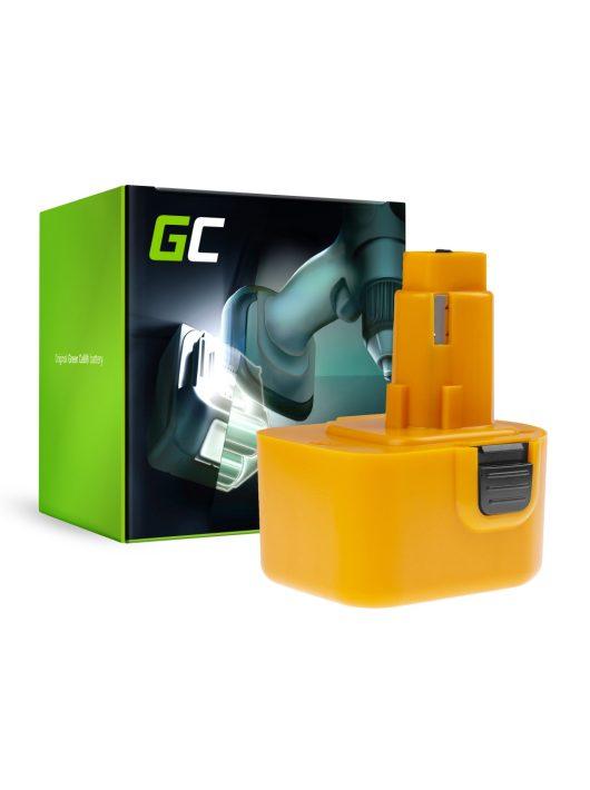 Green Cell Kéziszerszám akkumulátor / akku DeWalt DE9037 DE9071 DE9074 12V 2Ah