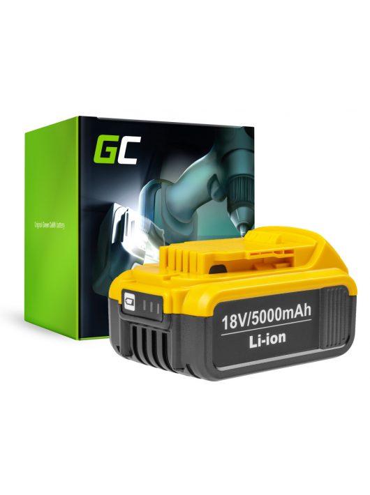 Green Cell Kéziszerszám akkumulátor / akku Dewalt DCB184 DCB182 DCB180 18V 5Ah