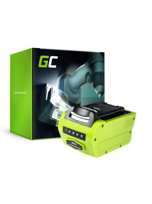 Green Cell Kéziszerszám akkumulátor / akku GreenWorks 2601102 G-MAX 40V 4Ah Samsung