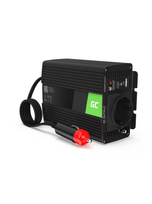 Green Cell Autós Inverter 12V-ról  230V-ra  (feszültség növelő) 150W/300W