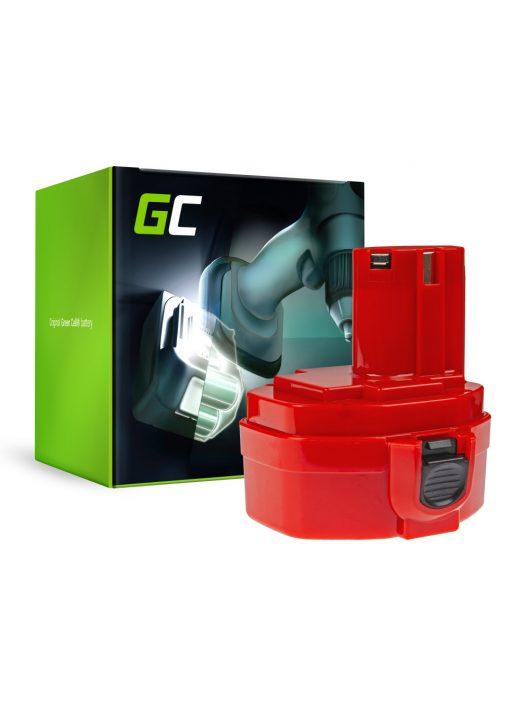 Green Cell Kéziszerszám akkumulátor / akku Makita 1420 1433 1434 4033D 4332D 6228D 6337D 14.4V 3Ah