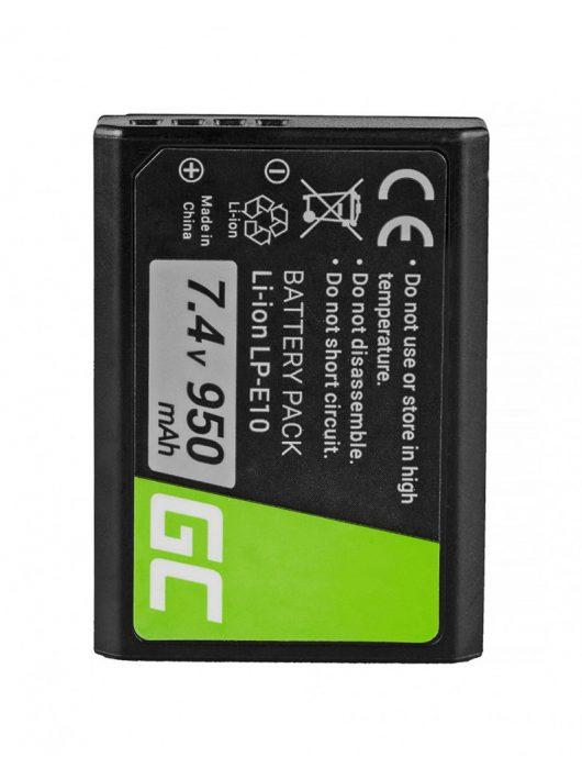 Green Cell Digitális Kamera  akkumulátor / akku Canon EOS Rebel T3 T6,  Kiss X50,  Kiss X70,  EOS 1100D 7.4V 950mAh,  T5,
