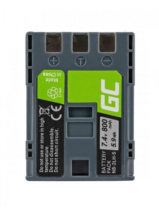 Green Cell Digitális Kamera  akkumulátor / akku Canon  G7 G9 S70 S80 R100 R11 Canon Elura 85 90 EOS 350D 400D 7.4V 800mAh