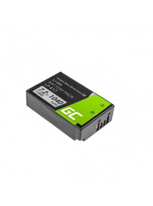 Green Cell Digitális Kamera  akkumulátor / akku Canon EOS 77D, 760D,  8000D,  M3,  M5,  M6,  Rebel T6i,  Rebel T6s 7.2V 1040mAh,  750D,