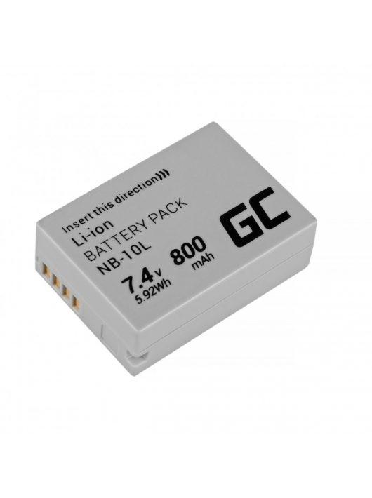 Green Cell Digitális Kamera  akkumulátor / akku Canon Teljesítmény Shot G15, G1X,  G3X,  SX40 HS,  SX40HS,  SX50 HS,  SX60 HS 7.4V 800mAh,  G16,