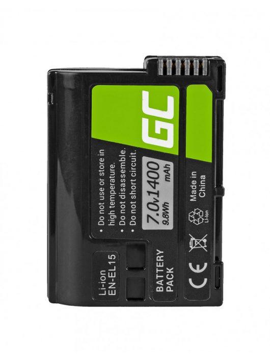 Green Cell Digitális Kamera  akkumulátor / akku Nikon D850, D800,  D750,  D7500,  D7200,  D7100,  D610,  D600 7.0V 1900mAh,  D810,