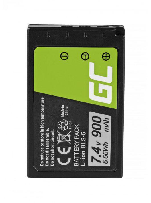Green Cell Digitális Kamera  akkumulátor / akku Olympus OM-D E-M10 E-PL5,  E-PL6,  E-PL7,  E-PM2,  Stílus 1 7.4V 900mAh,  PEN E-PL2,