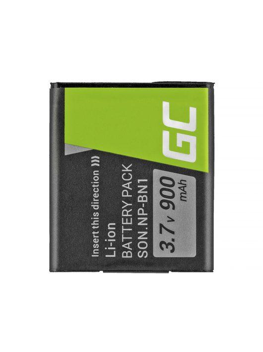 Green Cell Digitális Kamera  akkumulátor / akku Sony Cyber-Shot DSC-QX10 DSC-QX100 DSC-TF1 DSC-TX10 DSC-W530 DSC-W650 DSC-W800 3.7V 630mAh