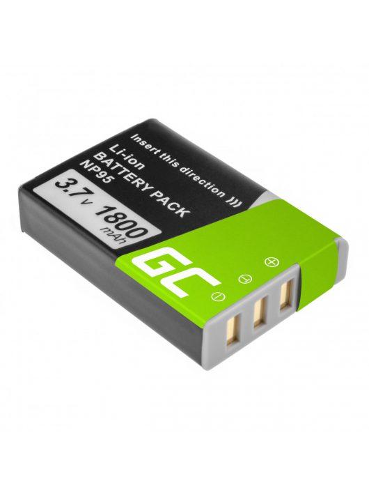 Green Cell Digitális Kamera  akkumulátor / akku Fujifilm Finepix X30 X70 X-S1 X100s X100 X100T F30 F31 3.7V 1500mAh