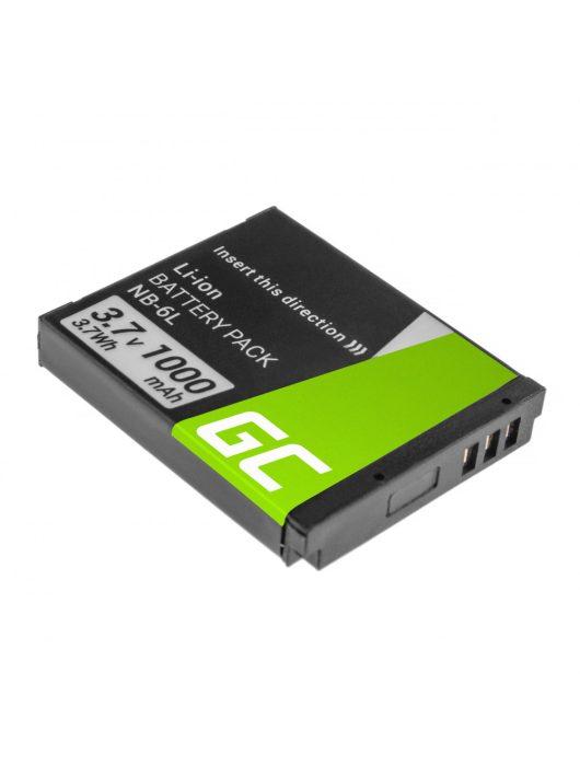 Green Cell Digitális Kamera  akkumulátor / akku Canon Teljesítmény Shot SX510 HS SX530 HS,  SX600 HS 3.7V 1000mAh,  SX520 HS