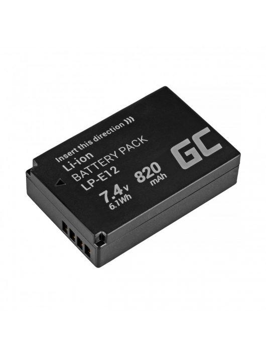 Green Cell Digitális Kamera  akkumulátor / akku Canon EOS M100 EOS-M,  EOS M2,  EOS M10,  Rebel SL1 7.4V 820mAh,  EOS100D