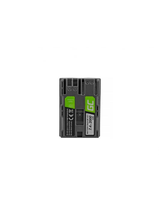 Green Cell Digitális Kamera  akkumulátor / akku Canon EOS 5D 20D,  30D,  50D,  D30,  300D,   G1,  G2,  G3,  G5,  Pro 1 7.4V 1600mAh,  10D