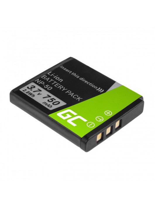 Digitális Kamera akkumulátor / akku FujiFilm F100 F300, F500, F600, F700, F80, X10, X20 3.7V 750mAh, F200 CB60