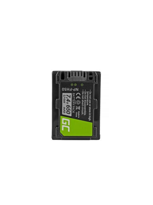 Green Cell Digitális Kamera  akkumulátor / akku Sony DCR-HC45 DCR-SR70,  DCR-SX50E 7.4V 650mAh,  DCR-SR300E