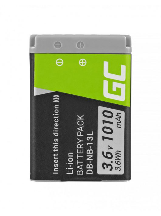 Green Cell Digitális Kamera  akkumulátor / akku Canon Teljesítmény Shot G5 X G7 X Mark II,  G9 X,  SX620 HS,  SX720 HS,  SX730 HS 3.6V 1010mAh,  G7 X
