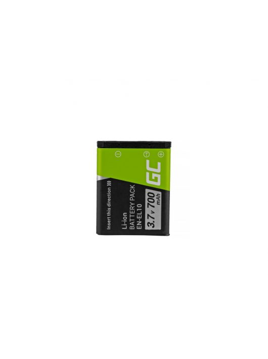 Green Cell Digitális Kamera  akkumulátor / akku Nikon Coolpix S60 S200,  S210,  S220,  S500,  S520,  S3000 3.7V 700mAh,  S80