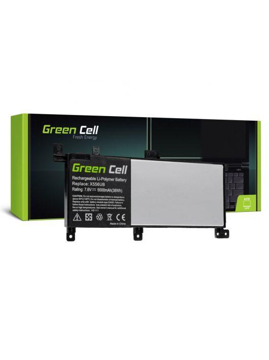 Green Cell Laptop akkumulátor / akku C21N1509  Asus X556U X556UA X556UB X556UF X556UJ X556UQ X556UR X556UV