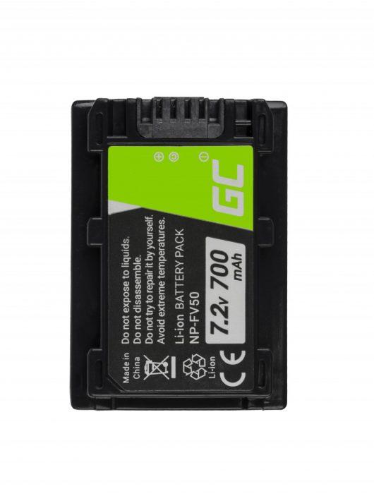 Digitális kamera akkumulátor / akku Sony DCR-DVD506E DCR-DVD510E HDR-CX116E HDR-CX130 HDR-CX155E HDR-UX9E 7.2V 700mAh