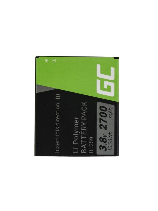 Green Cell akkumulátor / akku BL259  telefon Lenovo K3 K5 K5 Plus C2 Lemon 3
