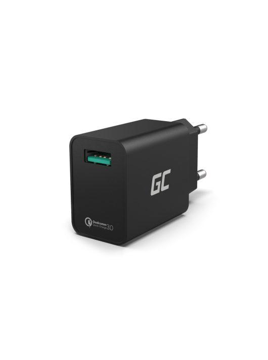 Hálózati töltő USB kimenettel QC3.0 gyorstöltés funkcióval CHAR06