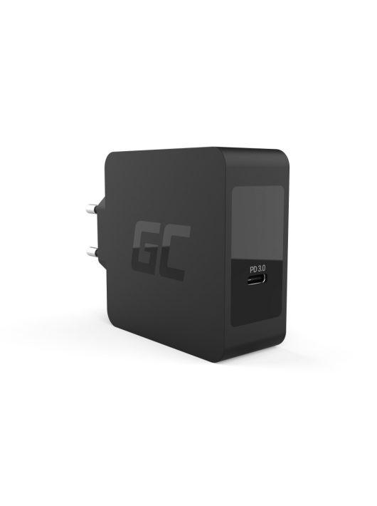 Green Cell USB-C 60W töltő USB-C kábellel Apple MacBook Pro 13, Asus ZenBook, HP Spectre, Lenovo ThinkPad és más készülékekhez