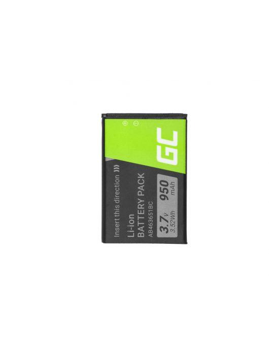 Green Cell akkumulátor / akku AB463651BE  telefon Samsung S3650 Corby S5600 P520
