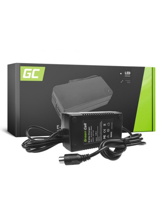 Green Cell 36V Elektromos kerékpár töltő 42V 2A (RCA) akkumulátor / akkuhoz