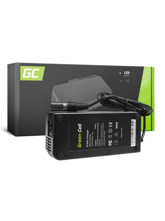 Green Cell 36V Elektromos kerékpár töltő 42V 4A (Cannon) akkumulátor / akkuhoz
