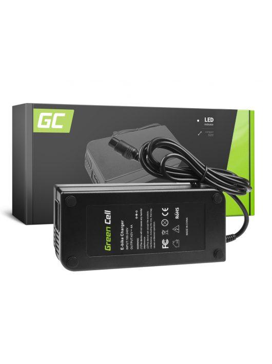Green Cell 36V Elektromos kerékpár töltő 42V 4A (3 pin) akkumulátor / akkuhoz