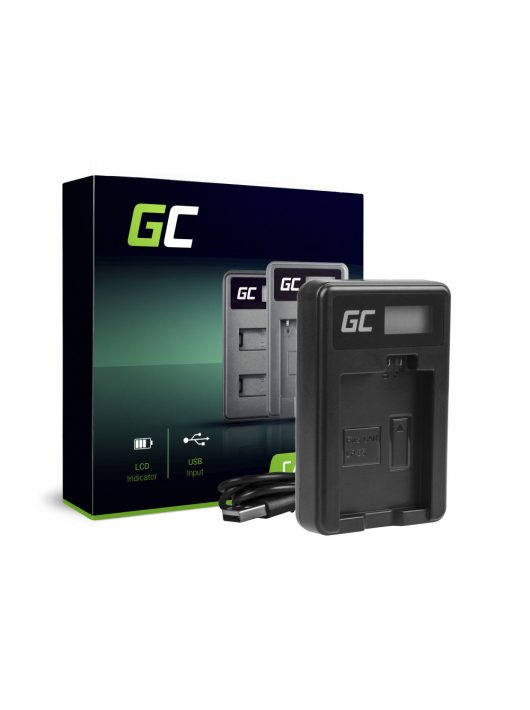 Green Cell Kamera töltő CBC-E5, LC-E5 Canon LP-E5, EOS 450D, 500D, 1000D, Kiss F, X2, X3, Rebel T1i, XS, XSi
