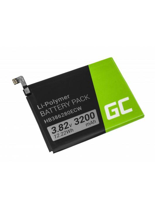 Green Cell Smartphone akkumulátor / akku HB386280ECW Huawei Honor 9 Huawei P10