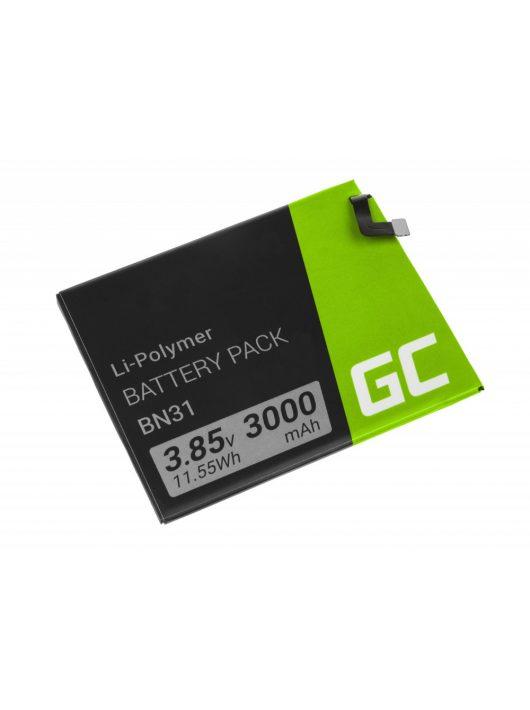 Green Cell Smartphone akkumulátor / akku BN31 Xiaomi Mi A1 5X Note 5A Redmi S2 Y2