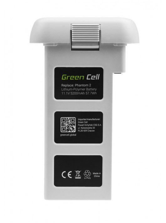 Green Cell Drón akkumulátor / akku DJI Phantom 2, Phantom 2 Vision+ 11.1V 5200mAh 57.7Wh
