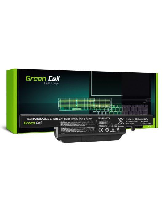 Green Cell Laptop akkumulátor / akku W650BAT-6 Clevo W650 W650SC W650SF W650SH W650SJ W650SR W670 W670SJQ W670SZQ1